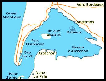 Dune Du Pyla ou Pilat : Situation géographique